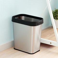 The European Runzhe 12 liter stainless steel pressure bag wastebins office trash free cover household basket 12 liters