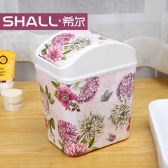 Hill rocking trash cans, fashion creative garbage cans, European style home, lovely living room, toilet, toilet, kitchen Jade Rose
