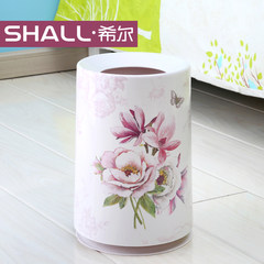 Hill garbage cans, fashion creative trash cans, European household cylinder, basket, bathroom, living room Jade Rose
