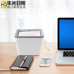 Authentic Japanese desktop Mini dustbin garbage basket with cover office creative small cute small trash