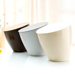 稻草屋 时尚创意桌面垃圾桶 小号厨房台面收纳桶桌上迷你垃圾筒 巧克力色(桌面使用)