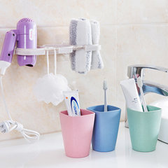 Home suction wall toothbrush rack, gargle cup set, creative lovers' toothbrush cup, wall hanging toothbrush cup, toothbrush rack 2 cups