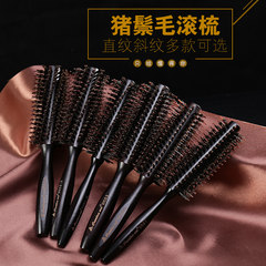 Bristle hair rolling comb buckle pear big bangs style blowing anti-static hair comb hair comb cylinder CY0551 straight lines