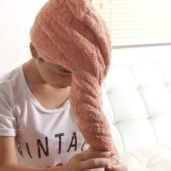Increase the thickening of dry hair cap absorbent dry towel dry hair shampoo and shower cap cap Baotou towel gules
