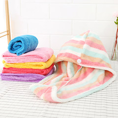 He base rub the hair dry hair towel dry towel turban thickened shower cap super absorbent dry hair cap bag mail Pink