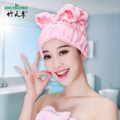 Dry hair cap super absorbent towel cap Baotou lovely soft towel Kuaisuganfa Dark purple