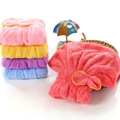 Children dry hair cap super absorbent and quick drying hair hair brush cap Korean adult cute Baotou towel dry hair yellow