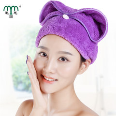 Drizzle dry hair cap, water absorbent scarf, Baotou towel quick dry hair care hair cap, cute dry hair towel mail Peach blossom powder