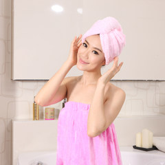 The towel dry hair cap dry hair cap thickened absorbent towel towel lengthened Baotou hair short hair dry in the grass Lolita powder
