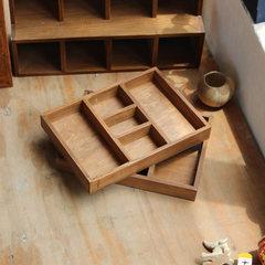 Zakka grocery five retro desk box sample storage box placed rectangular box planting. B108 small 5 lattice