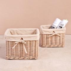 Mulan court explosion models promotion cloth round rattan clothing desktop storage basket storage box box size 50*40*33 [66L] Knot basket