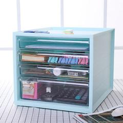 South Korea desktop super large creative drawer type cosmetics storage box, plastic bathroom rack, storage rack white