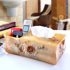 Tissue box, European paper towel, remote control box, creative living room, large paper box, napkin box, mobile phone box White paper box