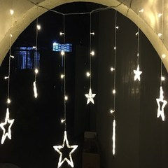 Led star curtain lamp, Christmas decorative lamp, ice bar, string lamp, indoor flash lamp, hot sale High grade star lantern warm white