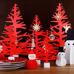 Loft49shop library red plane Christmas tree / holiday party gift / desktop decoration Red trumpet