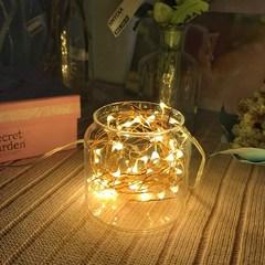 Copper string light bottle LED Christmas firefly string light INS with the bedroom light 3 meter white light (including bottle lamp string battery)