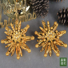 Taiwan Jinghua flower Ferris wheel accessories high-quality Christmas tree ornaments / decor furnishings into only 2 ring Golden