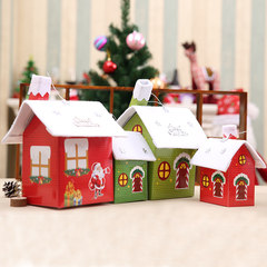 Christmas decorations scene decorate the Christmas snow house Christmas Santa Claus House Christmas tree ornaments ornaments Large red