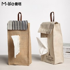 Handmade cloth cotton towel box wall life old cloth box car linen storage teahouse Teahouse Lace tower - hanging type