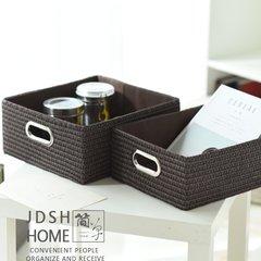 Japanese woven basket, sorting box, desktop storage box, clothes, snacks, sundries storage basket, storage basket storage box Trumpet 25*20*15 Milk color