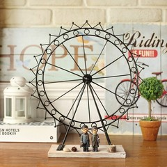 The living room decoration Home Furnishing sweet lovers iron wheel model creative decorative jewelry gift wedding gift