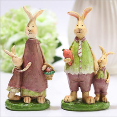 Zakka American country cute rabbit family decoration decoration cartoon rabbit mother Meng pastoral birthday gift The combination of rabbit Dads