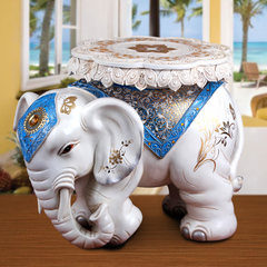 The elephant shoes stool living room decor wedding gift ornaments European Home Furnishing opening housewarming gift to send White gold flower mother love (down)