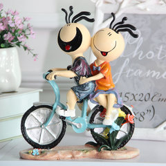 Her doll ornaments Home Furnishing Decor furnishings motorcycle fashion modern crafts gift for Valentine's Day Sanmao couple ride