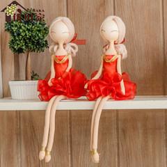 The explosion of pure handmade cloth doll ornaments jewelry Home Furnishing modern ballet simple Korean creative wedding gift Elegant powder