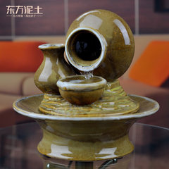 Oriental soil water fountain decoration decoration ceramic wedding gift / humidifier water to Zen thinking Meditation, meditation and meditation