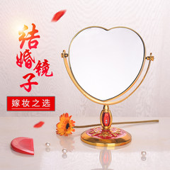 Bridal Wedding Decoration marriage room layout new woman's dowry dowry to marry the Dresser Mirror Mirror Column mirror (heart shaped) 1