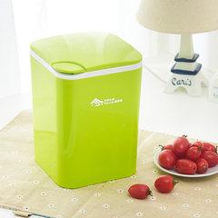 稻草屋 桌面垃圾桶按压式桌上收纳桶 时尚创意车用塑料小号垃圾桶 白色