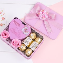 Refined sugar wedding candy boxes 6 good kisses6 gift gift bag with a Ferrero Rocher Suit combination (Handbag) gules