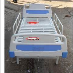 High grade medical bed nursing bed, household multifunctional sickbed, single rocking bed with guardrail, ABS bedside