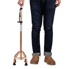 Yad`s four-corner walking stick old man`s four-foot walking stick disabled people stretch four-leg walking stick anti-skid elderly walking aid white