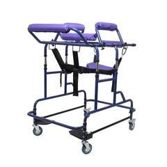 HJ成人学步车助行器偏瘫康复器站立老人行走辅助器多功能助行 紫色