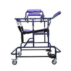 KR成人学步车助行器偏瘫康复器站立老人行走辅助器多功能助行 深紫色