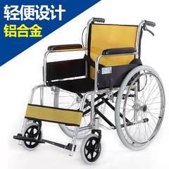 Shanghai brand full folding portable wheelchair lying elderly wheelchair trolley provided with a closet black