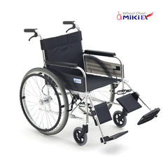 MIKI MiKi manual wheelchair MPTE-43 aluminum alloy elderly folding lightweight inflatable MIKI wheelchair