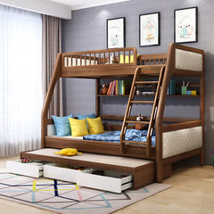 Children's bed, Nordic bed, mother and child bed, bed and down furniture, double bed, high-low bed, mother and child bed, solid combination bedroom 1350mm*1900mm High and low bed only More combinations