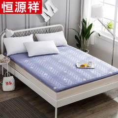 Thick mattress pad Hengyuanxiang tatami bed 1.5 meters 1.8m double bed dormitory is 0.9 Stripe Brown 0.9m (3 foot) bed
