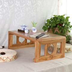 Shipping tatami wood table table table Piaochuang old elm European coffee table table windows platform white Ready