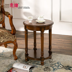 American country style sofa side, a few small tea table, bedroom phone, a few goods, how many color corner, factory direct sales Classic Brown