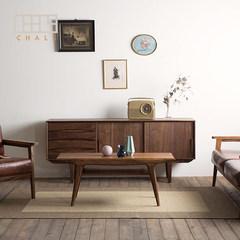 North American black walnut wood coffee table coffee table full of original design of Scandinavian minimalist tea square post Ready Walnut color [predetermined]