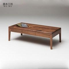 Nordic minimalist wood, North American oak, black walnut, living room, coffee table, coffee table, table tea, table wood Ready Red oak 1200*600*380 in North America