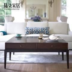陆柒家居 美式新古典简约现代茶几 咖啡桌别墅客厅茶水桌咖啡桌定 整装 15号色-120*80*46