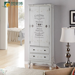 American exports, American hand-painted letters, children's adult wardrobe, big and small multi function storage furniture Tuba: 100*55*195cm 2 door Ready