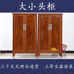 Rosewood, hedgehog, rosewood, Ming and Qing Dynasty head cabinet, wardrobe, noodle cabinet, antique furniture of Ming and Qing Dynasties A pair 4 door Ready