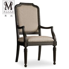 For custom high-end solid wood furniture Princess new American classical European restaurant dining chair chair CO04 (without armrests) size and color can be customized
