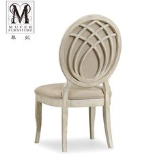 Fei Mu high-end custom furniture of American neo classical European style wooden dining restaurant chair chair SP03 (no armrest) size and color can be customized